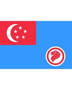 Drapeau: Republic of Singapore Air Force Service |  drapeau paysage | 1.35m² | 80x160cm