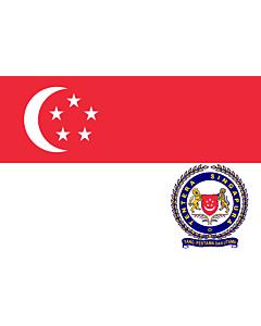 Drapeau: Singapore Armed Forces |  drapeau paysage | 1.35m² | 90x150cm