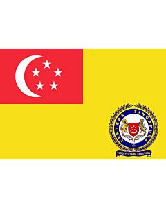 Drapeau: Singapore Army Service |  drapeau paysage | 1.35m² | 90x150cm