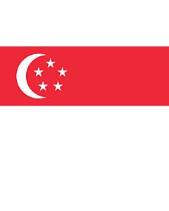 Drapeau: Singapour |  drapeau paysage | 0.7m² | 70x100cm