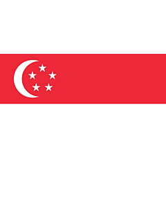 Drapeau: Singapour |  drapeau paysage | 1.35m² | 90x150cm