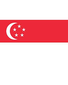 Drapeau: Singapour |  drapeau paysage | 1.5m² | 100x150cm