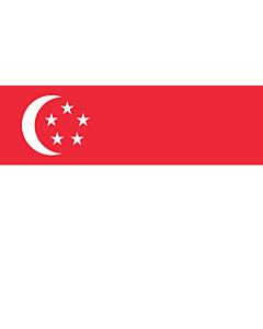 Drapeau: Singapour |  drapeau paysage | 6.7m² | 200x335cm