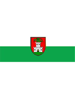 Flag: Ljubljana |  landscape flag | 1.35m² | 14.5sqft | 70x180cm | 30x70inch