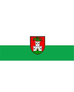 Flag: Ljubljana |  landscape flag | 2.16m² | 23sqft | 90x230cm | 35x90inch