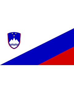 Flag: Proposed National Flag of Slovenia |  landscape flag | 1.35m² | 14.5sqft | 80x160cm | 30x60inch