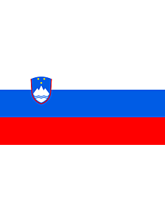 Flag: Slovenia |  landscape flag | 0.375m² | 4sqft | 40x80cm | 17x34inch