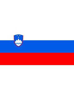 Flag: Slovenia |  landscape flag | 6.7m² | 72sqft | 180x360cm | 70x140inch