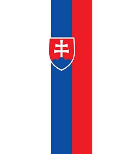 Flag: Slovakia |  portrait flag | 3.5m² | 38sqft | 300x120cm | 10x4ft