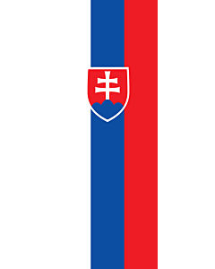Vertical Hanging Beam Flag: Slovakia |  portrait flag | 6m² | 64sqft | 400x150cm | 13x5ft