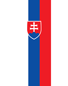 Vertical Hanging Swivel Crossbar Banner Flag: Slovakia |  portrait flag | 3.5m² | 38sqft | 300x120cm | 10x4ft