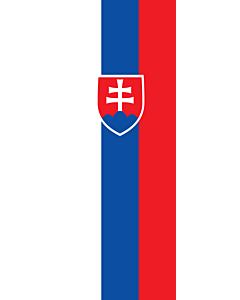 Vertical Hanging Swivel Crossbar Banner Flag: Slovakia |  portrait flag | 6m² | 64sqft | 400x150cm | 13x5ft