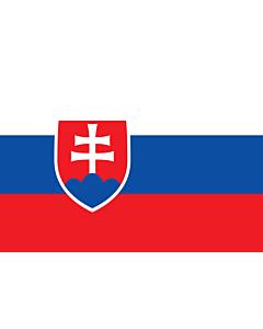 Flag: Slovakia |  landscape flag | 0.96m² | 10sqft | 80x120cm | 2.5x4ft