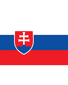Flag: Slovakia |  landscape flag | 1.5m² | 16sqft | 100x150cm | 3.5x5ft