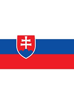 Flag: Slovakia |  landscape flag | 2.4m² | 26sqft | 120x200cm | 4x7ft