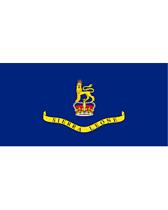 Flagge: XL Governor-General of Sierra Leone  |  Querformat Fahne | 2.16m² | 100x200cm