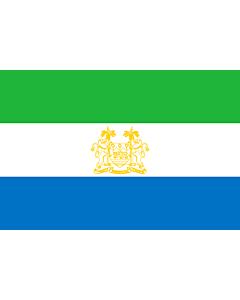Flag: Standard of Ambassadors of Sierra Leone | Standard of ambassadors of Sierra Leone |  landscape flag | 1.35m² | 14.5sqft | 90x150cm | 3x5ft