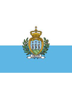 Drapeau: Saint-Marin |  drapeau paysage | 0.06m² | 21x28cm
