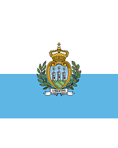 Drapeau: Saint-Marin |  drapeau paysage | 0.24m² | 40x55cm
