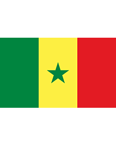 Flag: Senegal |  landscape flag | 1.35m² | 14.5sqft | 90x150cm | 3x5ft