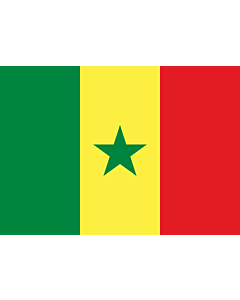 Flag: Senegal |  landscape flag | 0.7m² | 7.5sqft | 70x100cm | 2x3ft