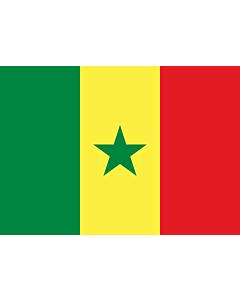 Drapeau: Sénégal |  drapeau paysage | 0.7m² | 70x100cm