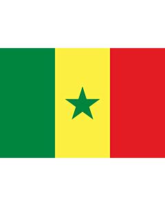 Drapeau: Sénégal |  drapeau paysage | 1.5m² | 100x150cm