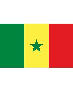 Drapeau: Sénégal |  drapeau paysage | 2.4m² | 120x200cm