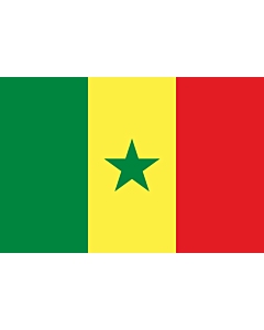 Drapeau: Sénégal |  drapeau paysage | 3.375m² | 150x225cm