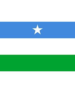 Flag: Puntland |  landscape flag | 1.35m² | 14.5sqft | 90x150cm | 3x5ft