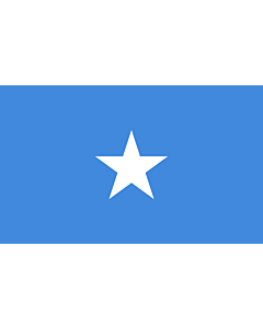 Flag: Somalia |  landscape flag | 6.7m² | 72sqft | 200x335cm | 6x11ft