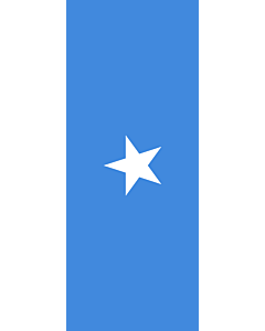 Vertical Hanging Swivel Crossbar Banner Flag: Somalia |  portrait flag | 3.5m² | 38sqft | 300x120cm | 10x4ft