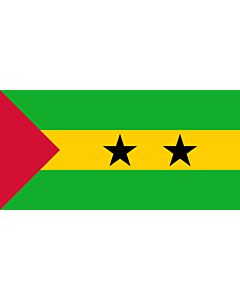 Flag: En Movement for the Liberation of São Tomé and Príncipe/Social Democratic Party |  landscape flag | 2.16m² | 23sqft | 100x200cm | 40x80inch