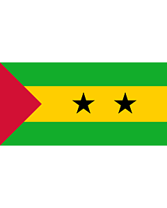 Flag: Sao Tome and Principe |  landscape flag | 0.7m² | 7.5sqft | 70x100cm | 2x3ft