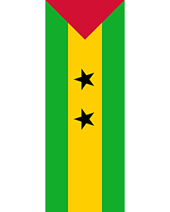 Vertical Hanging Beam Flag: Sao Tome and Principe |  portrait flag | 6m² | 64sqft | 400x150cm | 13x5ft