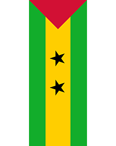 Vertical Hanging Swivel Crossbar Banner Flag: Sao Tome and Principe |  portrait flag | 3.5m² | 38sqft | 300x120cm | 10x4ft
