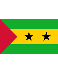 Indoor-Flag: Sao Tome and Principe 90x150cm
