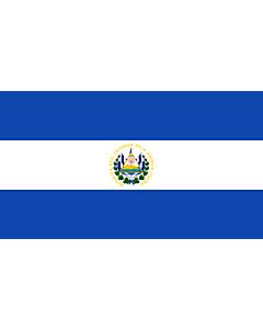 Raum-Fahne / Raum-Flagge: El Salvador 90x150cm