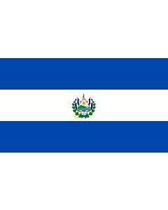 Flagge: XXL El Salvador  |  Querformat Fahne | 3.375m² | 150x225cm