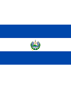 Flag: El Salvador |  landscape flag | 3.75m² | 40sqft | 150x250cm | 5x8ft