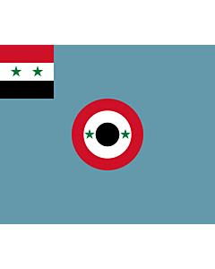 Flag: Syrian Air Force Ensign |  landscape flag | 1.35m² | 14.5sqft | 110x130cm | 40x50inch