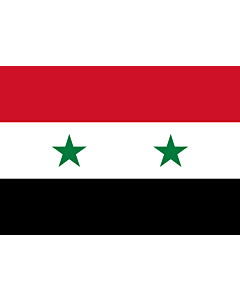 Flag: Syrian |  landscape flag | 0.7m² | 7.5sqft | 70x100cm | 2x3ft