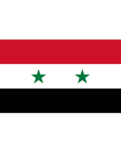 Flag: Syrian |  landscape flag | 1.35m² | 14.5sqft | 90x150cm | 3x5ft