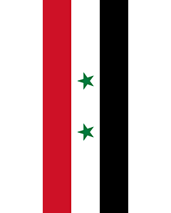 Vertical Hanging Beam Flag: Syrian |  portrait flag | 3.5m² | 38sqft | 300x120cm | 10x4ft