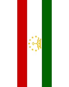 Vertical Hanging Swivel Crossbar Banner Flag: Tajikistan |  portrait flag | 3.5m² | 38sqft | 300x120cm | 10x4ft