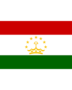 Flag: Tajikistan |  landscape flag | 0.375m² | 4sqft | 50x75cm | 1.5x2.5ft
