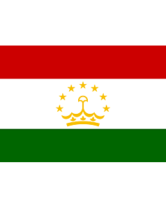 Flag: Tajikistan |  landscape flag | 0.7m² | 7.5sqft | 70x100cm | 2x3ft
