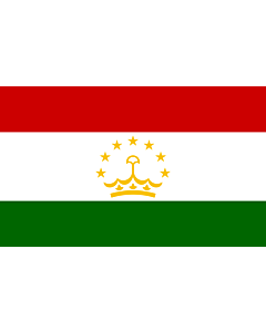 Flag: Tajikistan |  landscape flag | 1.35m² | 14.5sqft | 90x150cm | 3x5ft