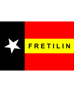 Flag: FRETILIN |  landscape flag | 1.35m² | 14.5sqft | 90x150cm | 3x5ft