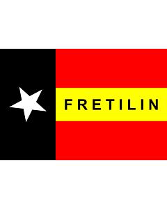 Flag: FRETILIN |  landscape flag | 0.06m² | 0.65sqft | 20x30cm | 8x12in